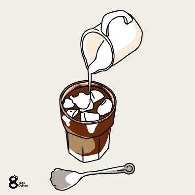 アイスコーヒー(ホワイト)のキャッチ画像