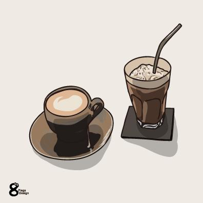 コーヒーとアイスコーヒー(茶)のキャッチ画像