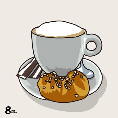 コーヒーとクッキー(グレー)のキャッチ画像