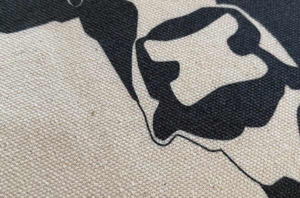 キャンバストートシルク印刷サンプル画像