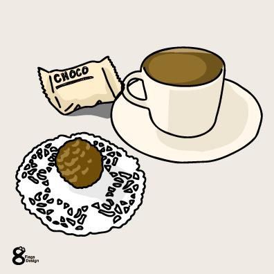 チョコレートとコーヒー(アイボリー)のキャッチ画像