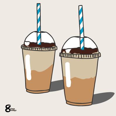 アイスコーヒーカップ(ブルー)のキャッチ画像