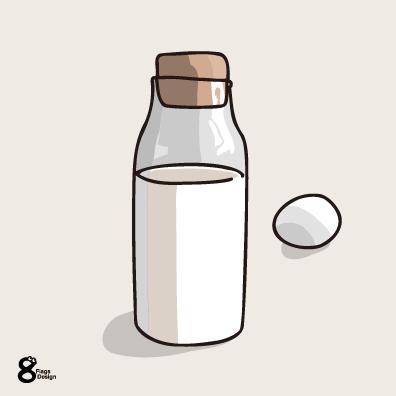 ミルクボトル(コルク)のキャッチ画像