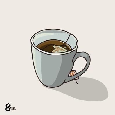 緑茶のティーバック(グレー)のキャッチ画像