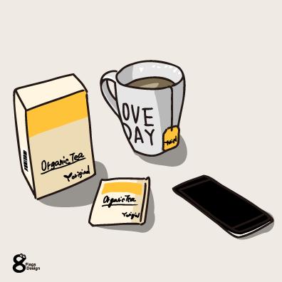 紅茶ボックスとカップ(イエロー)のキャッチ画像