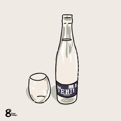 水のボトル(ネイビー)のキャッチ画像