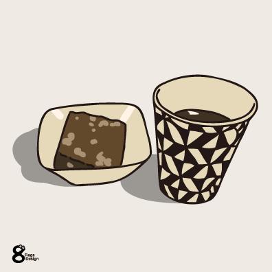 チョコブラウニーとコーヒー(ベージュ)のキャッチ画像