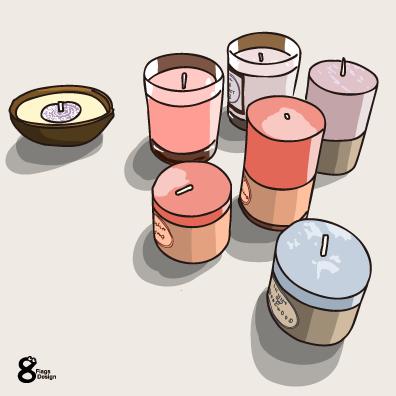 キャンドル6個(ピンク)のキャッチ画像