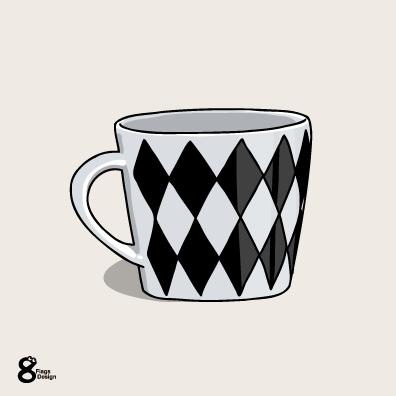 マグカップ(黒)のキャッチ画像