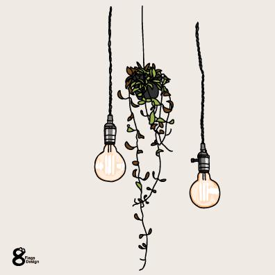 電球と観葉植物(スタンダード)のキャッチ画像