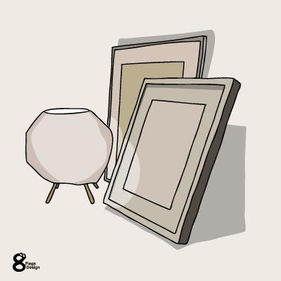 ランプと額(オフホワイト)のキャッチ画像