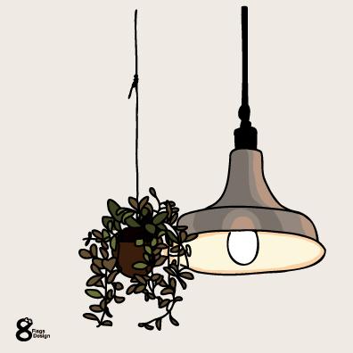 ランプと観葉植物(スタンダード)のキャッチ画像