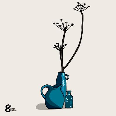 青い花瓶(ブルー)のキャッチ画像
