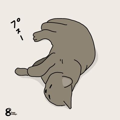 寝るネコ(グレー)のキャッチ画像