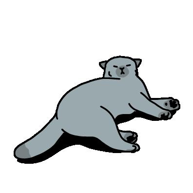 眠そうな猫(ロシアンブルー))