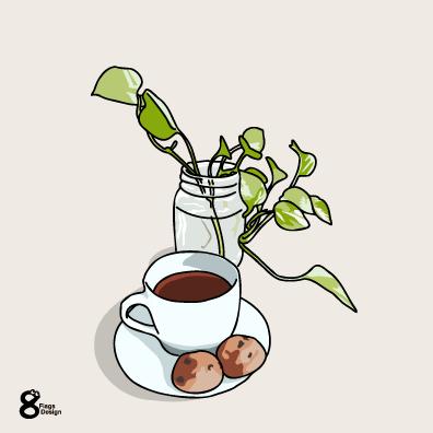 コーヒーとクッキーのキャッチ画像