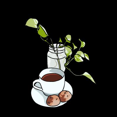 コーヒーとクッキーホワイト