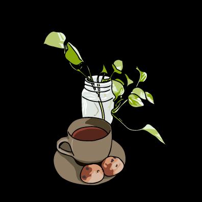 コーヒーとクッキーブラウン