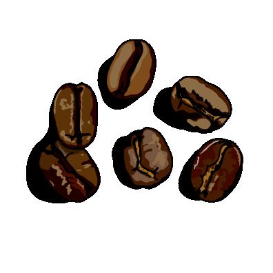コーヒー豆深煎り
