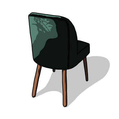グリーン椅子