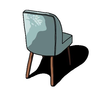 ブルー椅子