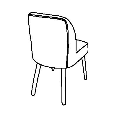 茶色い椅子(ライン)