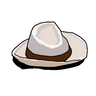 白い帽子茶