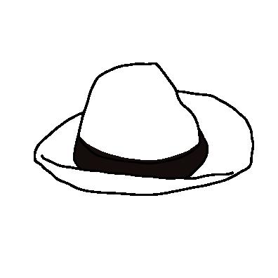 白い帽子ライン