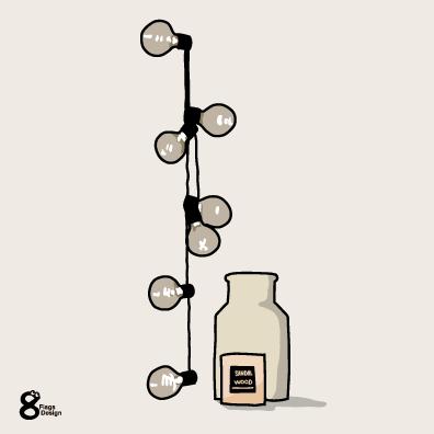 電球と瓶のキャッチ画像
