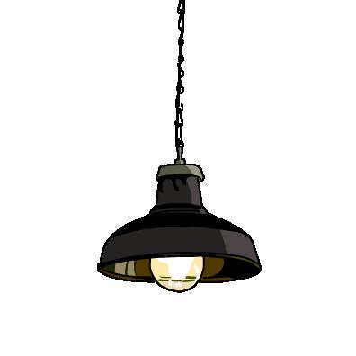シーリングライト(ブラック)