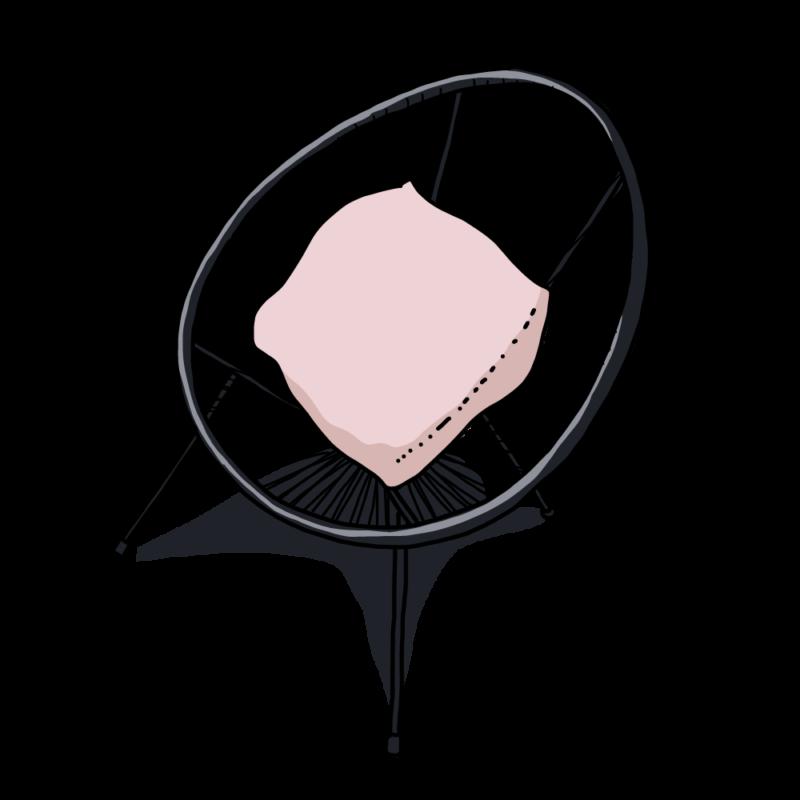ネットの椅子ピンク