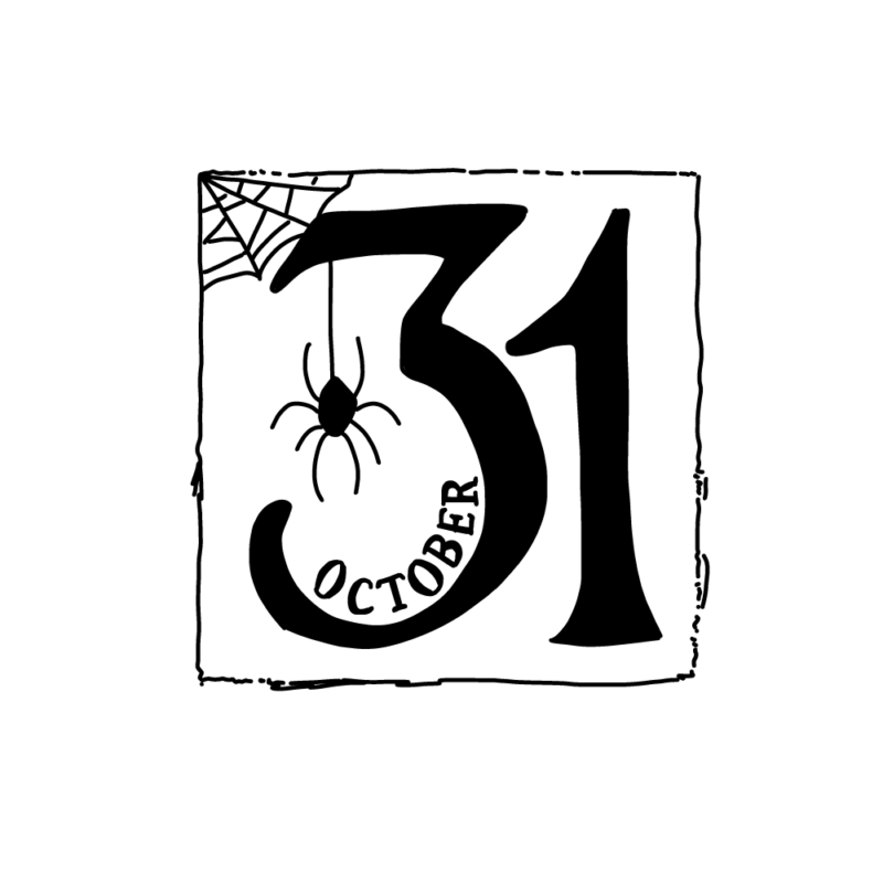 10/31(ハロウィン)モノクロ