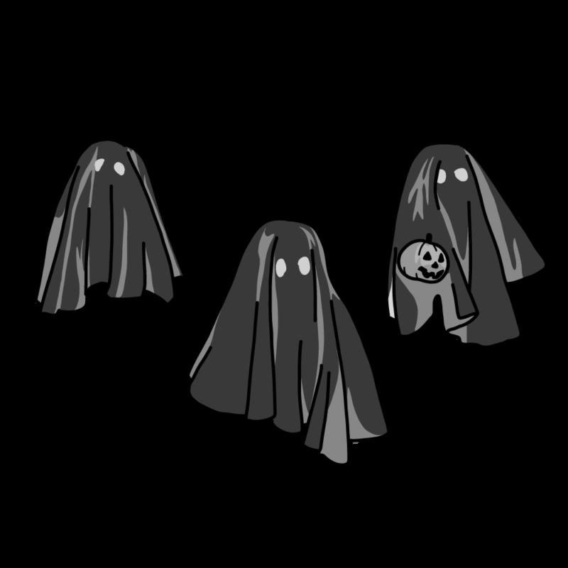 ハロウィンのオバケ(黒衣)