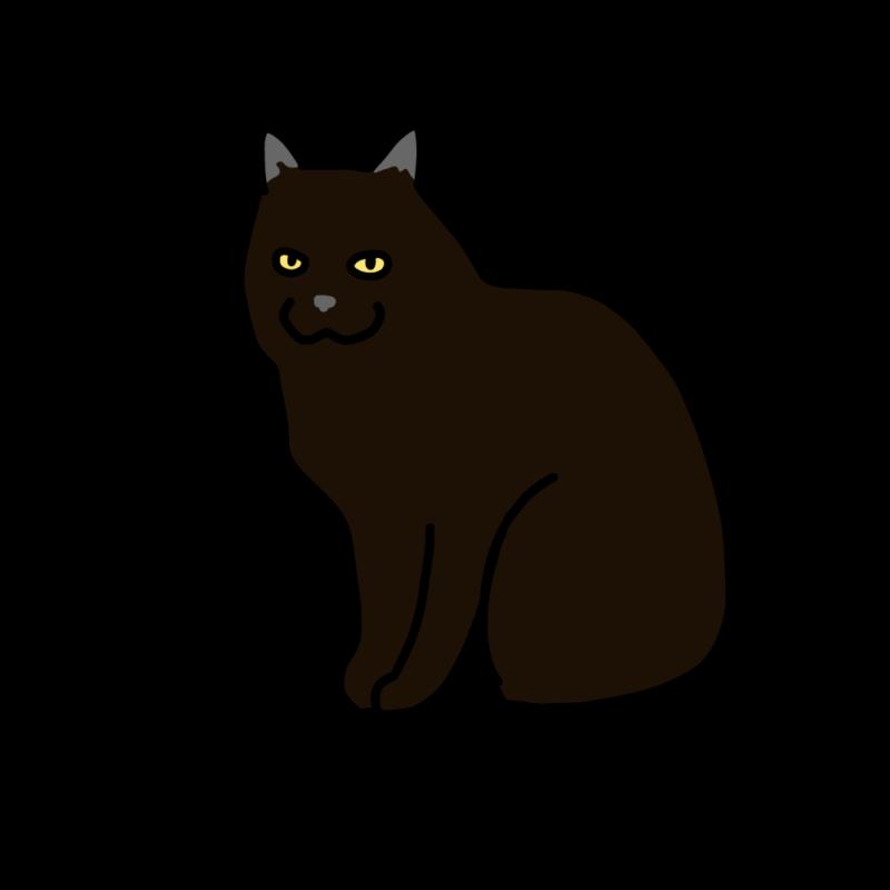 笑うクロネコ(ブラック)