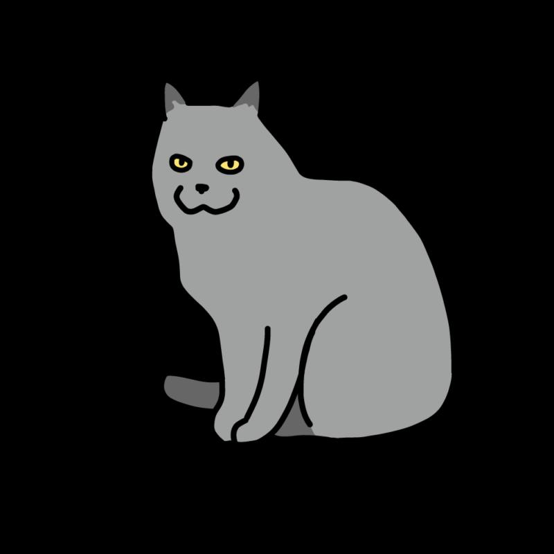 笑うグレーネコ