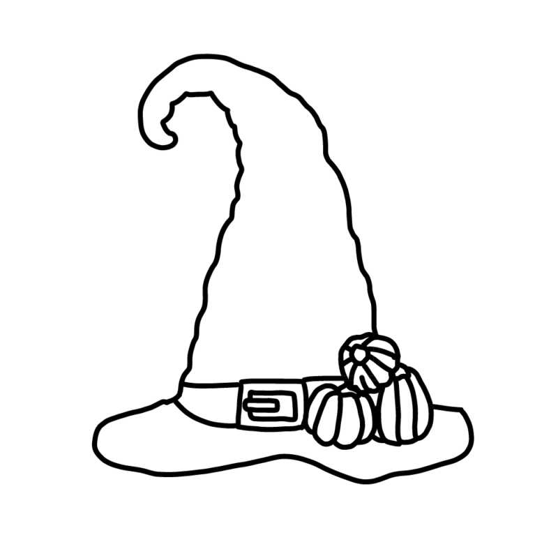 魔女の帽子(ライン)