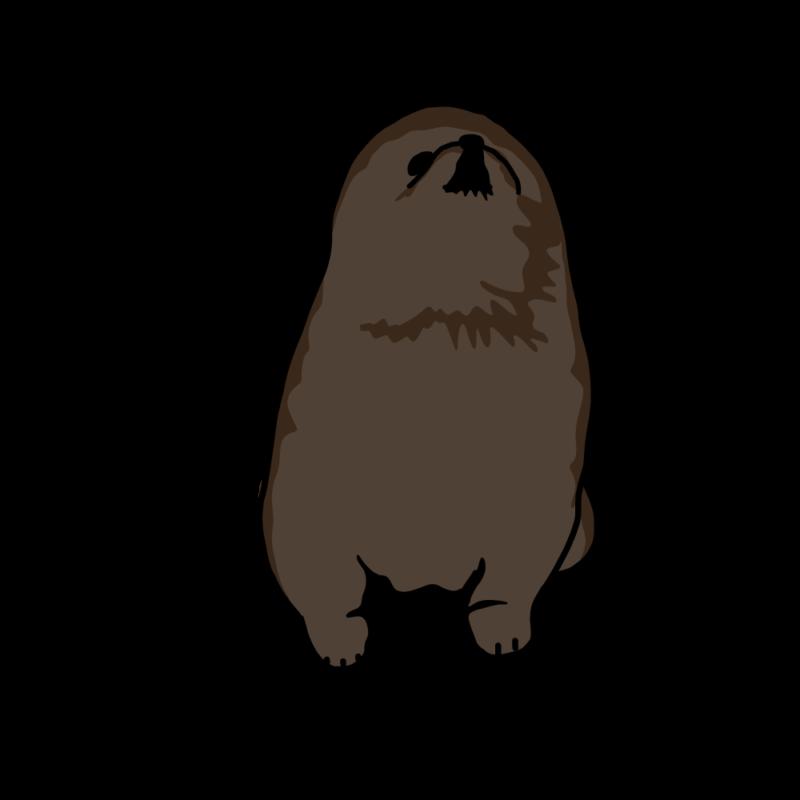 人狼の子供(ポメラニアン)黒