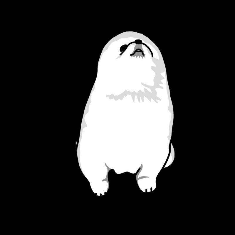 人狼の子供(ポメラニアン)ホワイト