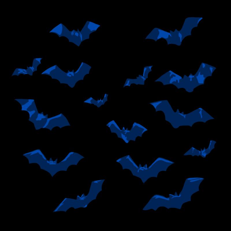 コウモリ(大群)ブルー