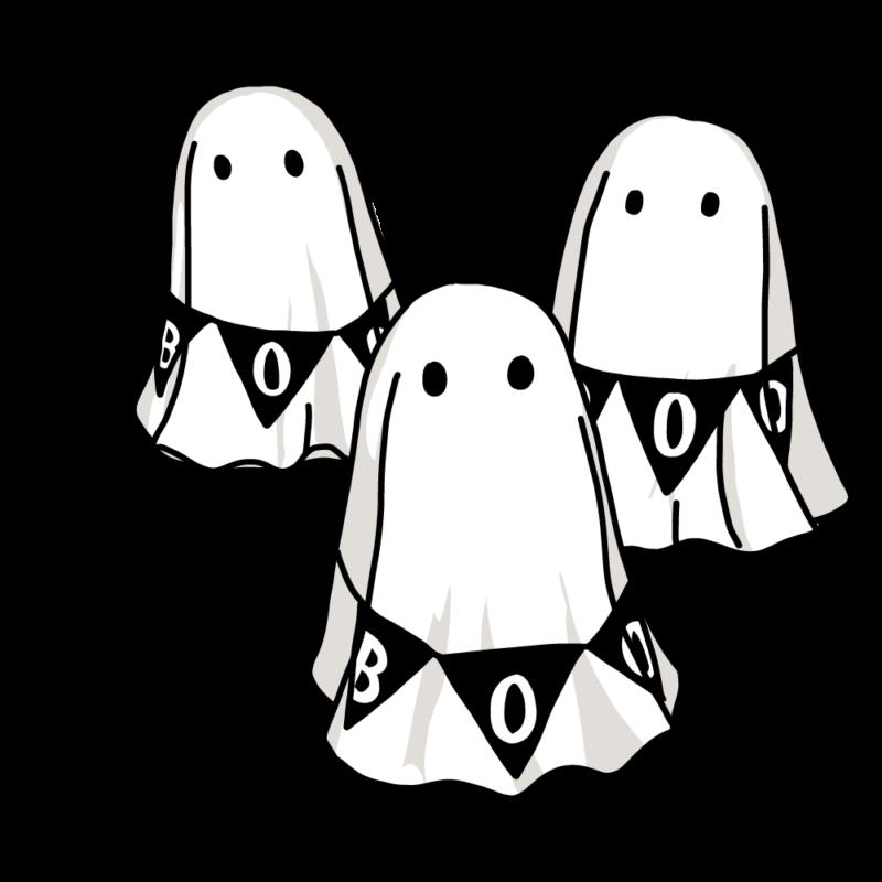 オバケ3匹(黒)