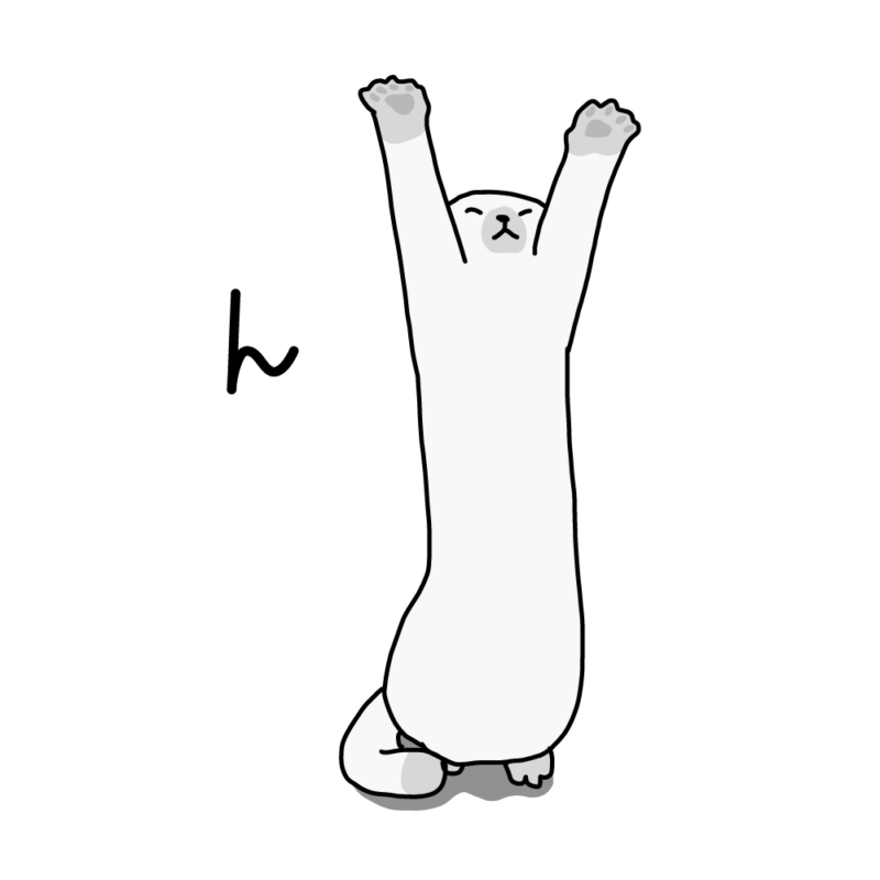 抱っこをねだるネコ(モノクロ)