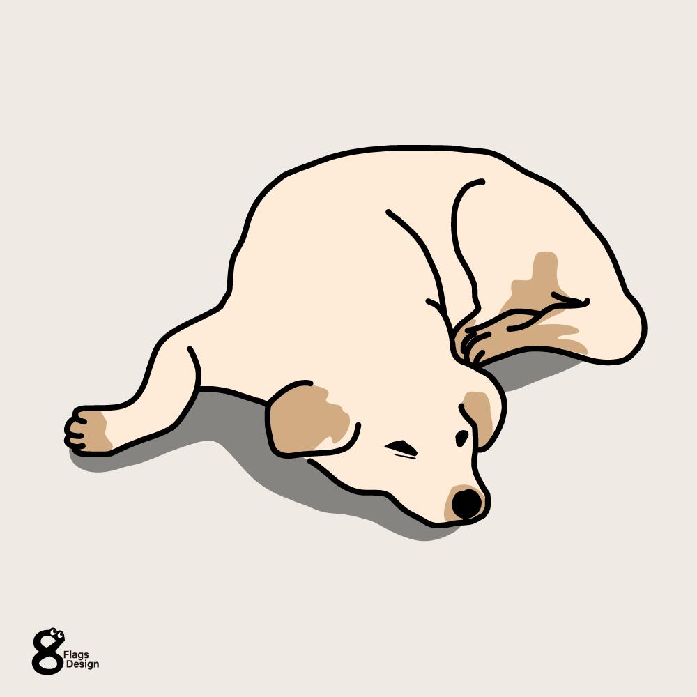ふて寝する犬のキャッチ画像