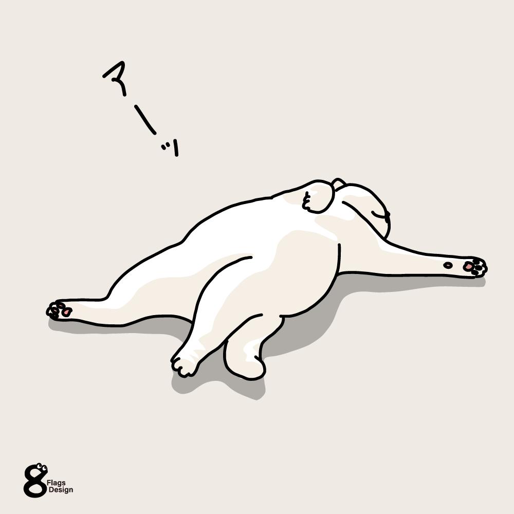 仰向けのネコのキャッチ画像