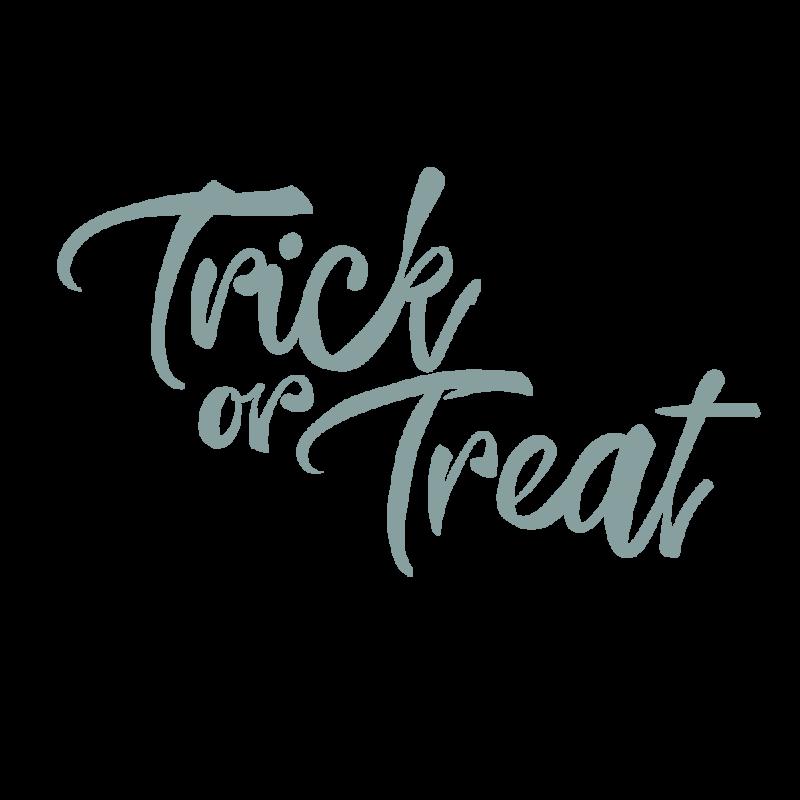 トリックオアトリートtrick or treatグレー