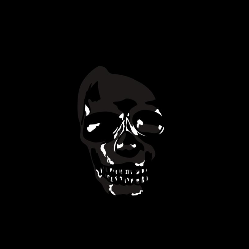 スカルの置物ブラック