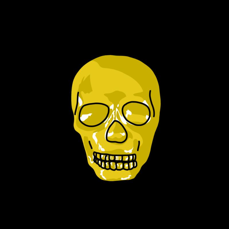 スカルの置物ゴールド