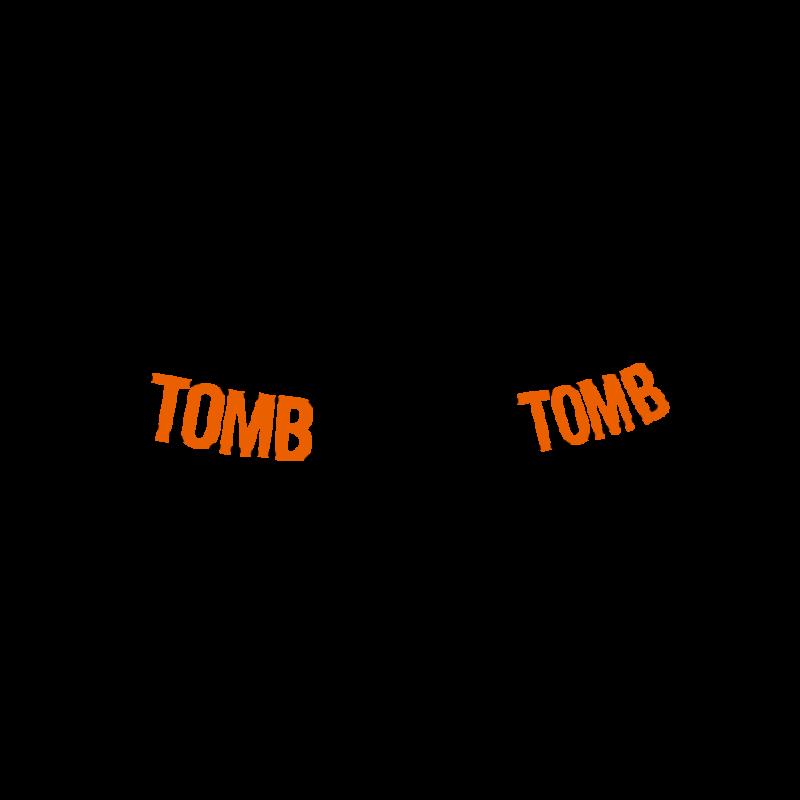 楽しい我が墓 tomb sweet tombオレンジ&ブラック