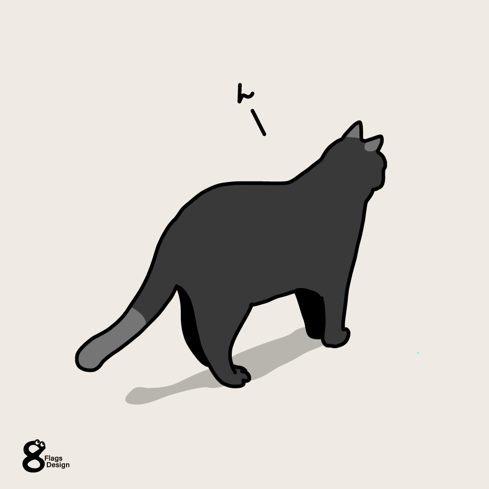 向こうが気になるネコのキャッチ画像