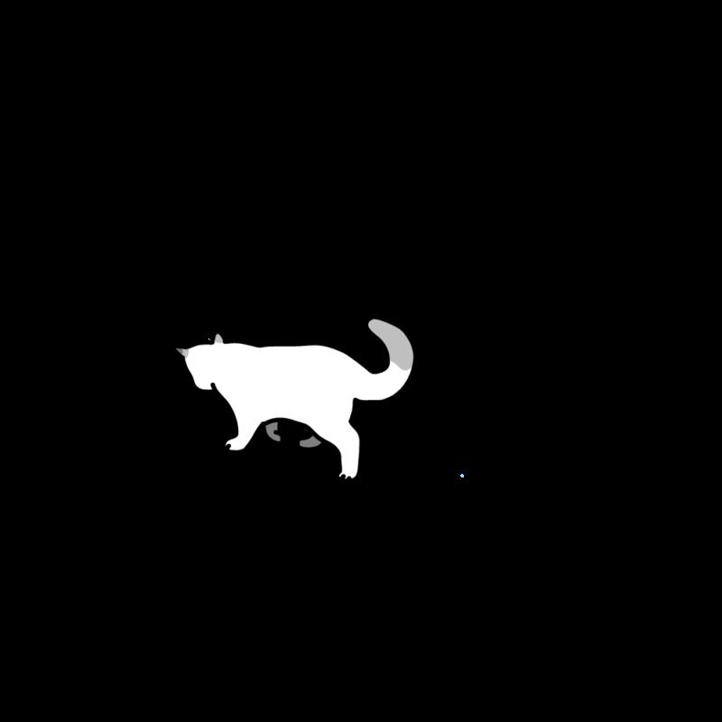 小走りネコホワイト