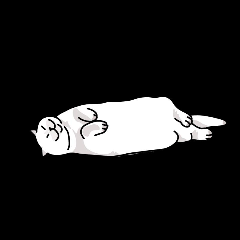 撫で待ちのネコホワイト